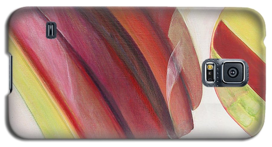 Abstract Galaxy S5 Case featuring the painting Sens 3 by Muriel Dolemieux