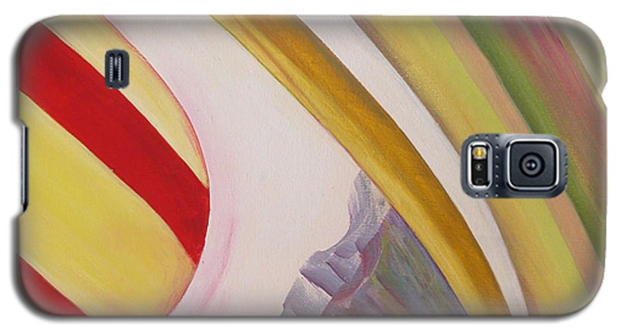 Abstract Galaxy S5 Case featuring the painting Sens 4 by Muriel Dolemieux