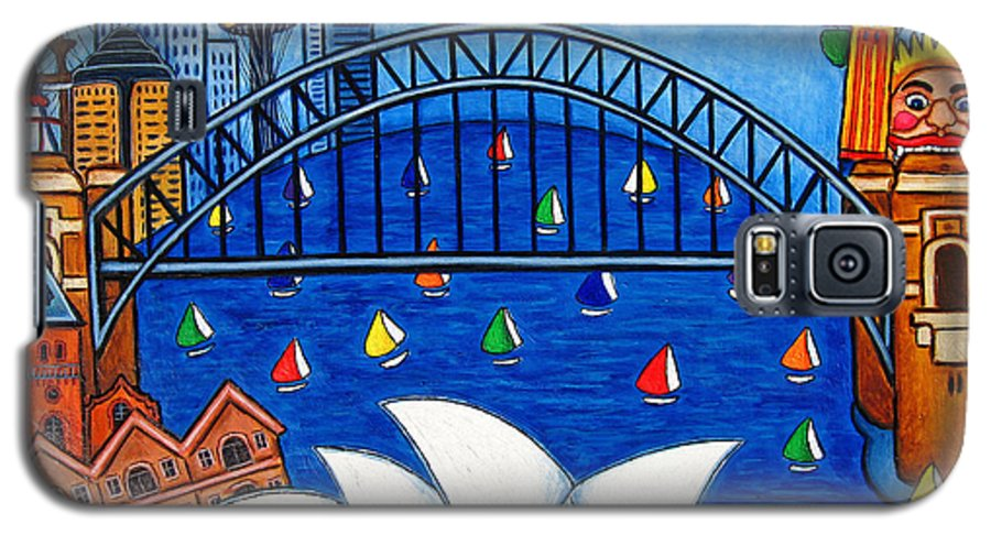 House Galaxy S5 Case featuring the painting Sensational Sydney by Lisa Lorenz