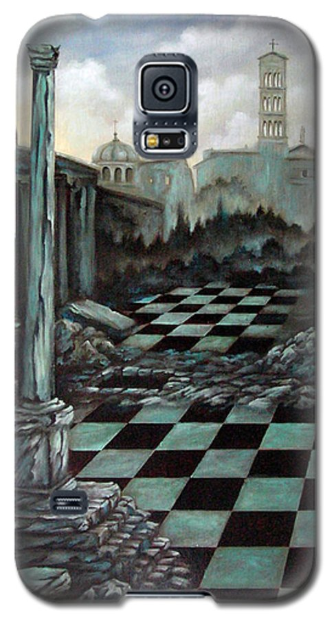 Surreal Galaxy S5 Case featuring the painting Sepulchre by Valerie Vescovi