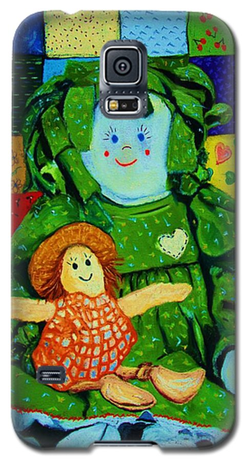 Dolls Galaxy S5 Case featuring the print Sew Sweet by Melinda Etzold