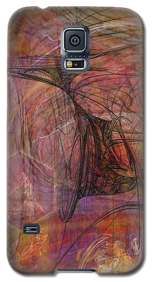 Shadow Dragon Galaxy S5 Case featuring the digital art Shadow Dragon by John Beck