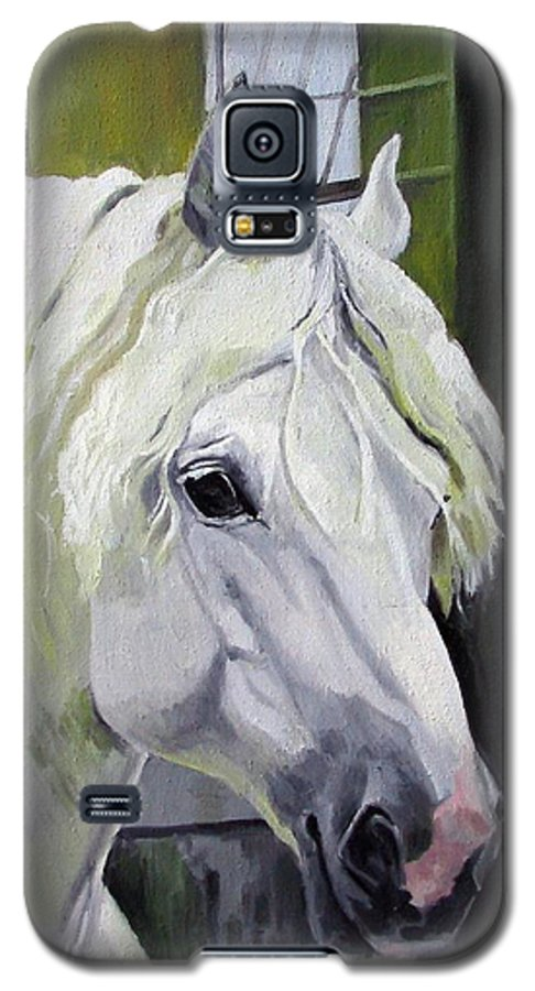 Horse Galaxy S5 Case featuring the painting Shadowfax by Nel Kwiatkowska