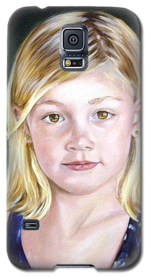 Portrait Galaxy S5 Case featuring the painting Shannon by Anne Kushnick