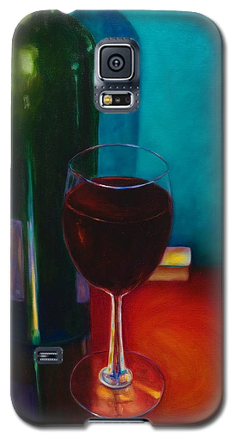 Wine Bottle Galaxy S5 Case featuring the painting Shannon's Red by Shannon Grissom