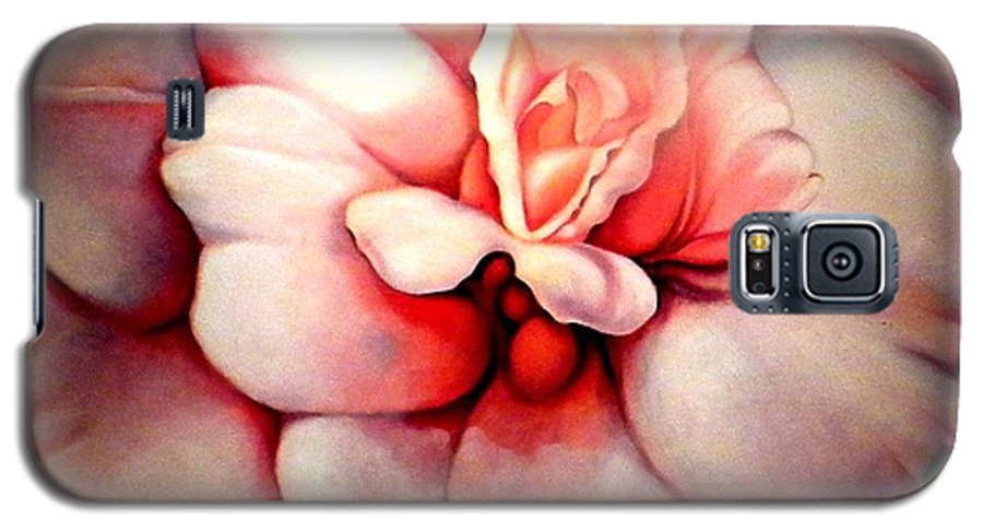 Blooms.large Rose Galaxy S5 Case featuring the painting Sheer Bliss by Jordana Sands