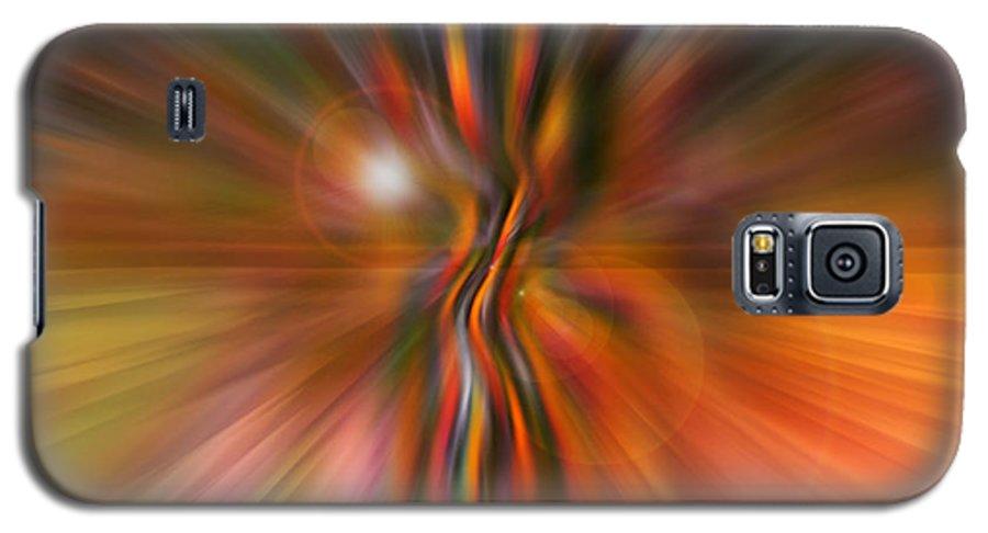 Abstract Art Galaxy S5 Case featuring the digital art Shine On by Linda Sannuti