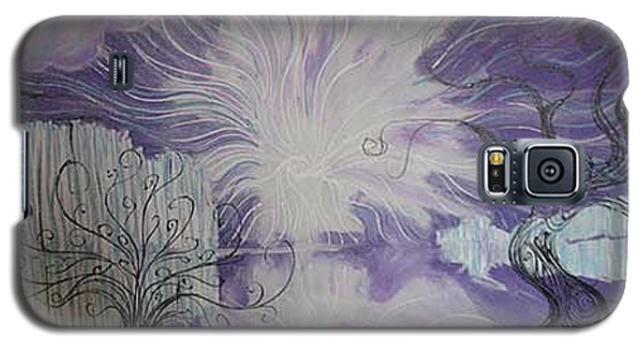 Squiggleism Galaxy S5 Case featuring the painting Shore Dance by Stefan Duncan
