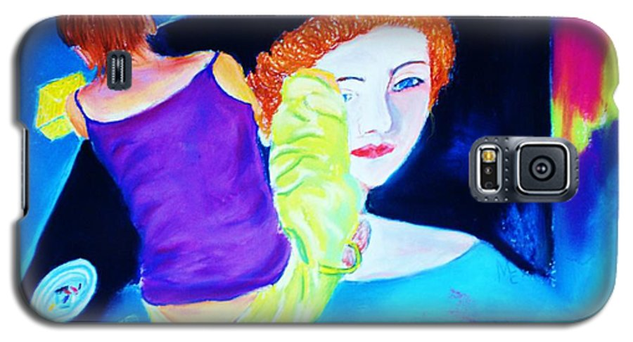 Painting Within A Painting Galaxy S5 Case featuring the print Sidewalk Artist II by Melinda Etzold