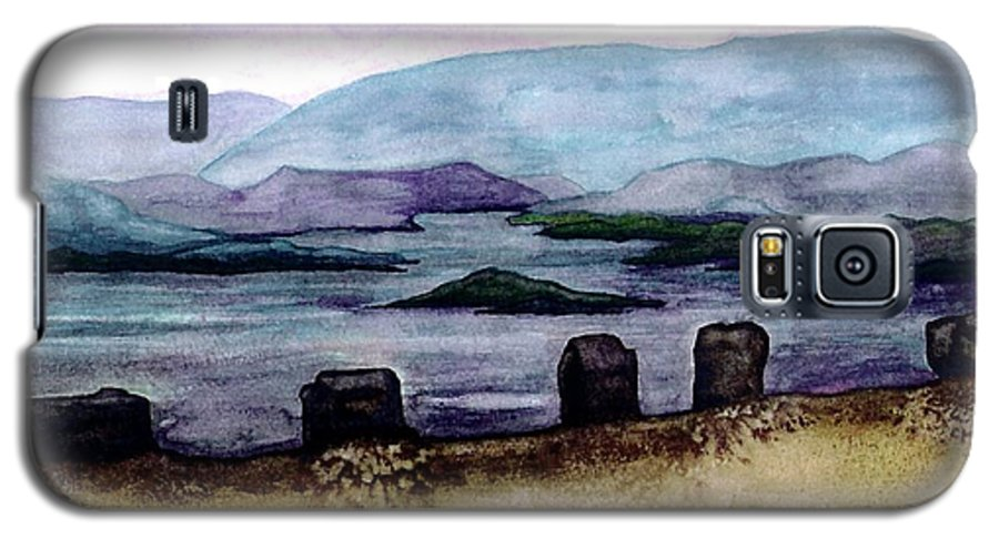 Original Painting Galaxy S5 Case featuring the painting Silent Sentinels by Patricia Griffin Brett