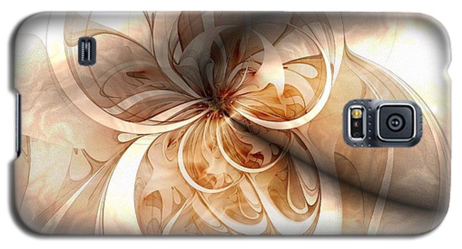 Digital Art Galaxy S5 Case featuring the digital art Silk by Amanda Moore