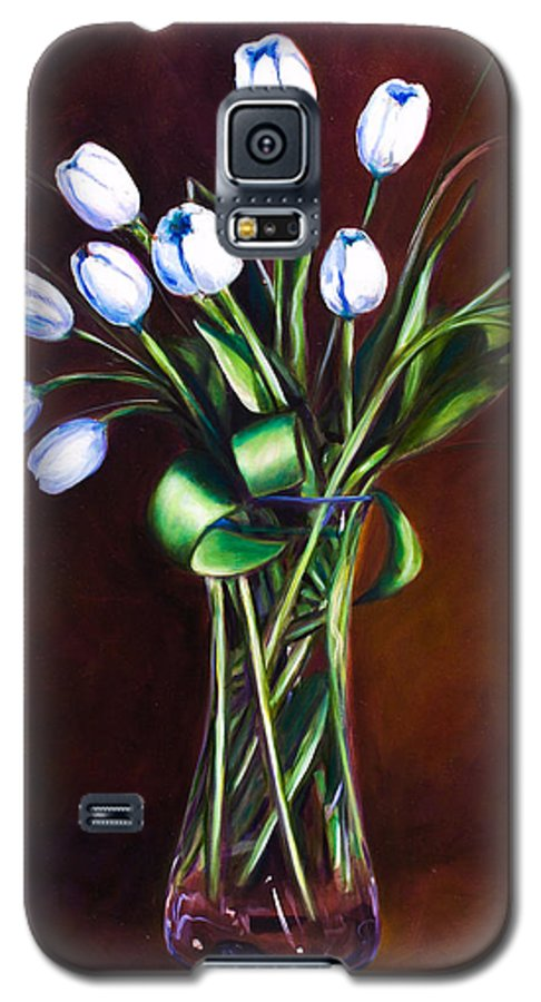 Shannon Grissom Galaxy S5 Case featuring the painting Simply Tulips by Shannon Grissom