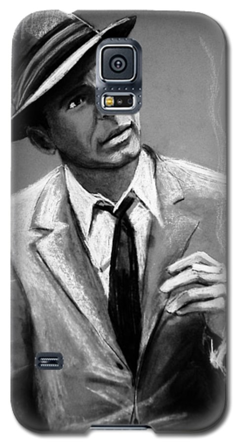 Frank Sinatra Galaxy S5 Case featuring the drawing Sinatra by Laura Rispoli