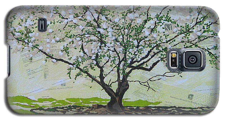 Apple Tree Galaxy S5 Case featuring the painting Sincerely-the Curator by Leah Tomaino