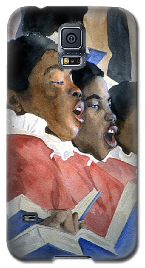 Choir Galaxy S5 Case featuring the painting Sing Out Your Joy by Jean Blackmer