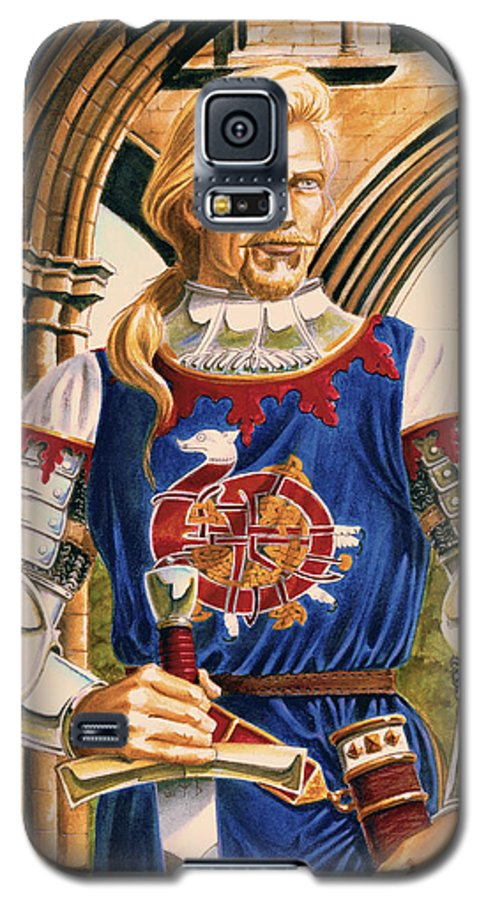 Swords Galaxy S5 Case featuring the painting Sir Dinadan by Melissa A Benson