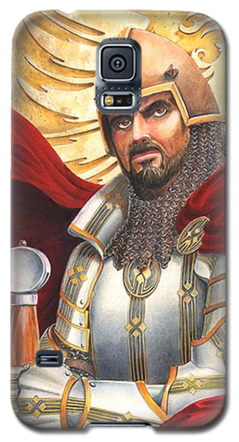 Swords Galaxy S5 Case featuring the drawing Sir Gawain by Melissa A Benson