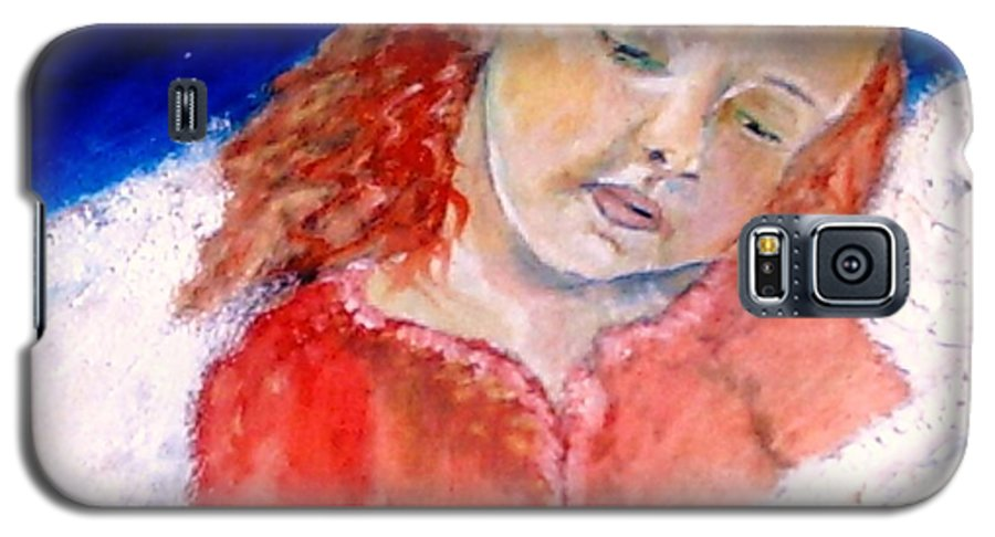 Angels Galaxy S5 Case featuring the painting watching the Dreamers by J Bauer