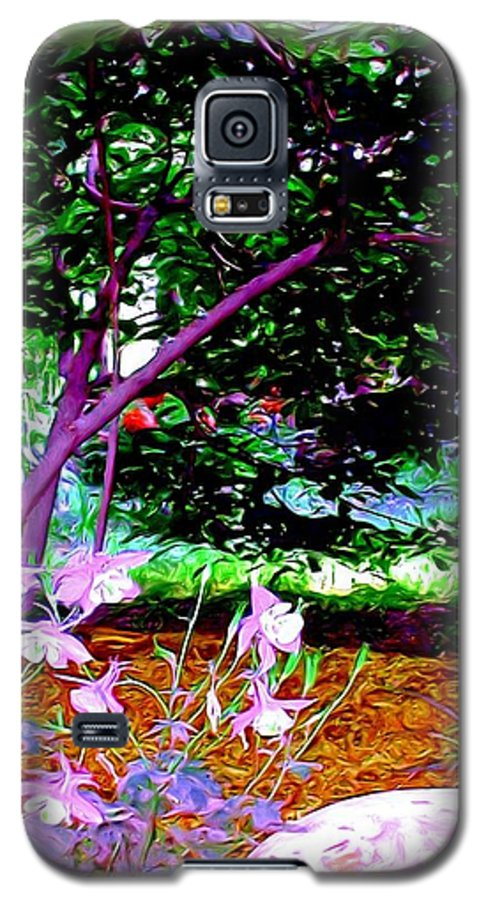 Fine Art Galaxy S5 Case featuring the painting Sitting In The Shade by Patricia Griffin Brett