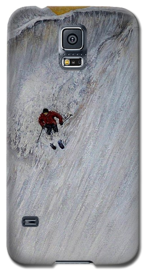 Landscape Galaxy S5 Case featuring the painting Skitilthend by Michael Cuozzo