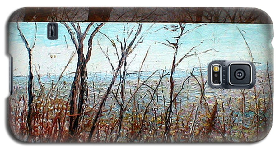 Landscape Galaxy S5 Case featuring the painting Skyline by J E T I I I