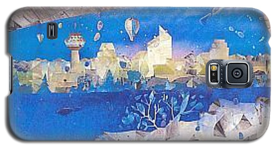 Landscape Galaxy S5 Case featuring the painting Skyline by Rick Silas
