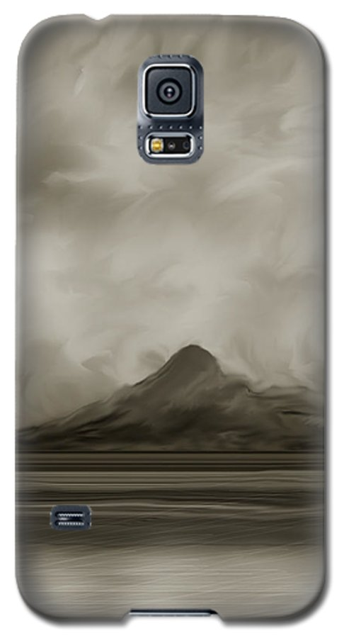 Wyoming Galaxy S5 Case featuring the painting Sleeping Giant And Beck Lake by Anne Norskog