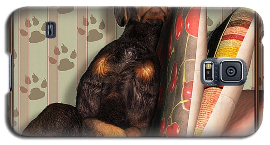 Dog Galaxy S5 Case featuring the digital art Sleeping I by Nik Helbig