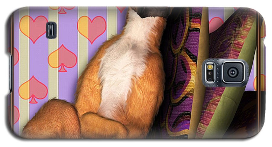 Dog Galaxy S5 Case featuring the digital art Sleeping II by Nik Helbig