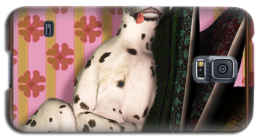 Dalmatian Galaxy S5 Case featuring the digital art Sleeping IIi by Nik Helbig