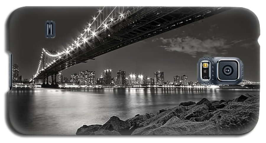 Bridge Galaxy S5 Case featuring the photograph Sleepless Nights And City Lights by Evelina Kremsdorf