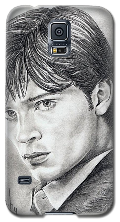 Superman Galaxy S5 Case featuring the drawing Smallville Tom Welling by Murphy Elliott