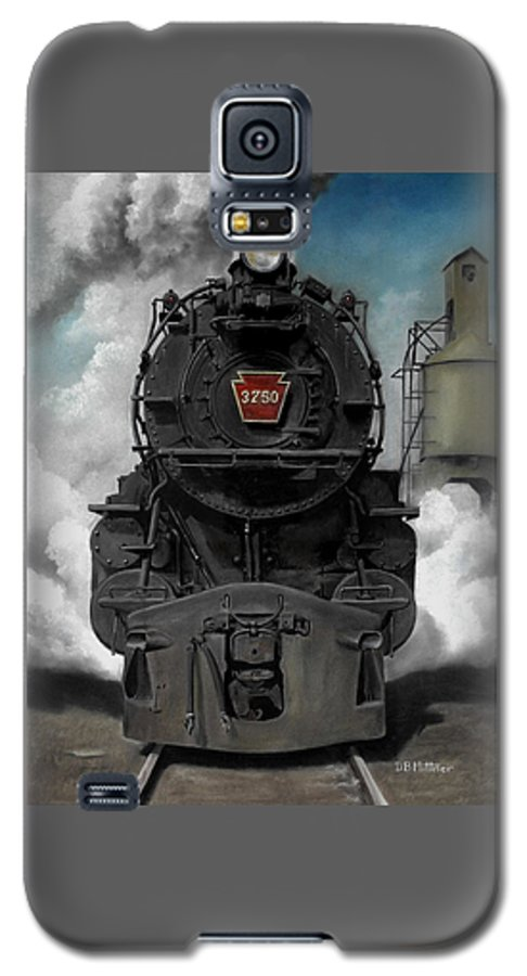 Trains Galaxy S5 Case featuring the painting Smoke And Steam by David Mittner