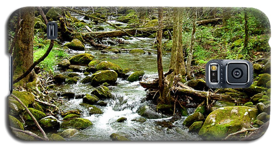Smoky Mountains Galaxy S5 Case featuring the photograph Smoky Mountain Stream 1 by Nancy Mueller