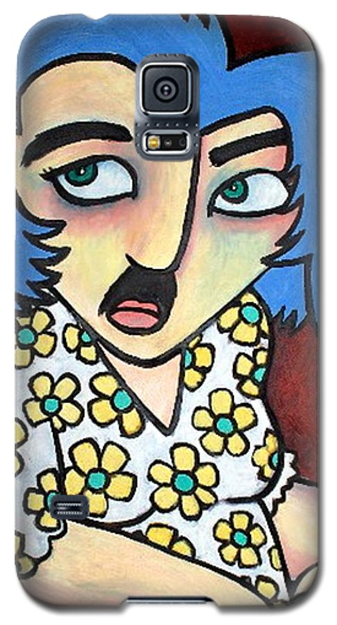 Portrait Galaxy S5 Case featuring the painting Sneaker by Thomas Valentine