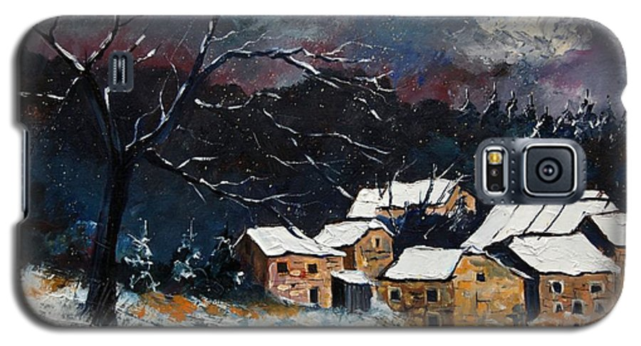 Snow Galaxy S5 Case featuring the painting Snow 57 by Pol Ledent