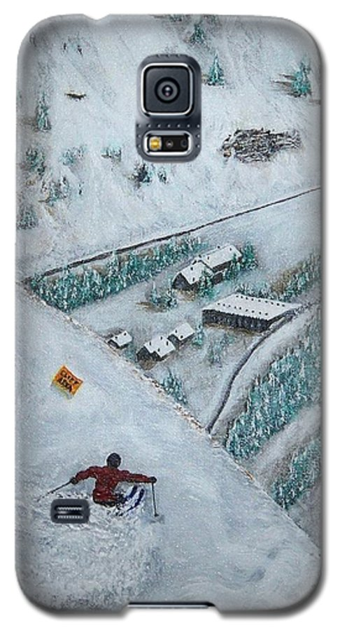 Ski Galaxy S5 Case featuring the painting Snowbird Steeps by Michael Cuozzo