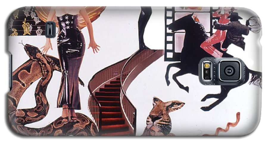 Boa Galaxy S5 Case featuring the drawing Soap Scene #22 Lust In The Wind by Minaz Jantz