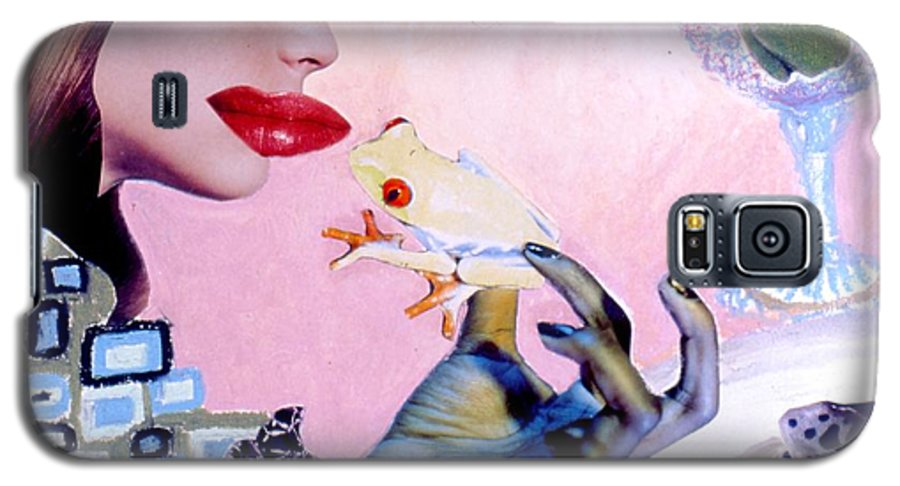 Frogs Galaxy S5 Case featuring the drawing Soap Scene #6 Frogs Legs For Dinner by Minaz Jantz