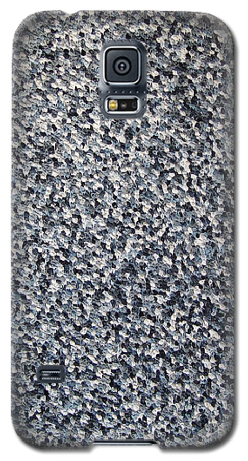 Abstract Galaxy S5 Case featuring the painting Soft Grey Scale by Dean Triolo