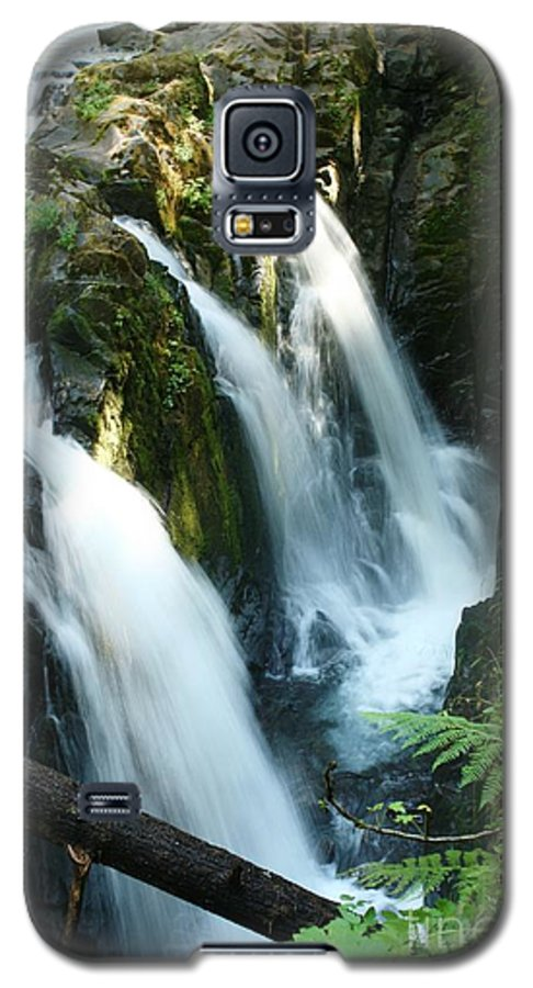 Waterfall Galaxy S5 Case featuring the photograph Sol Duc Falls by Idaho Scenic Images Linda Lantzy