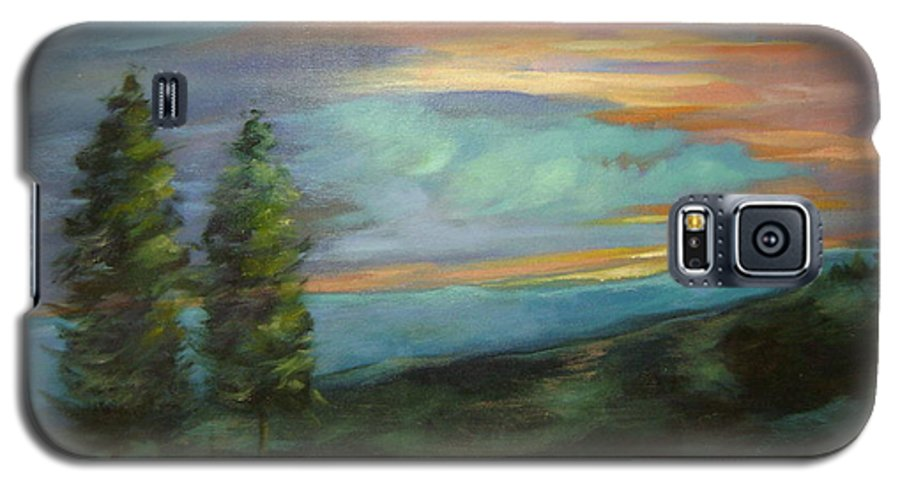 Landscape Galaxy S5 Case featuring the painting Soledad by Ginger Concepcion