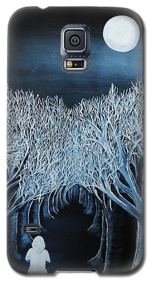 Landscape Galaxy S5 Case featuring the painting Solidad by Lauren Luna