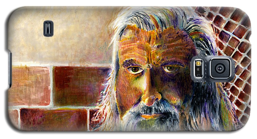 Man Galaxy S5 Case featuring the painting Solitary by Arline Wagner