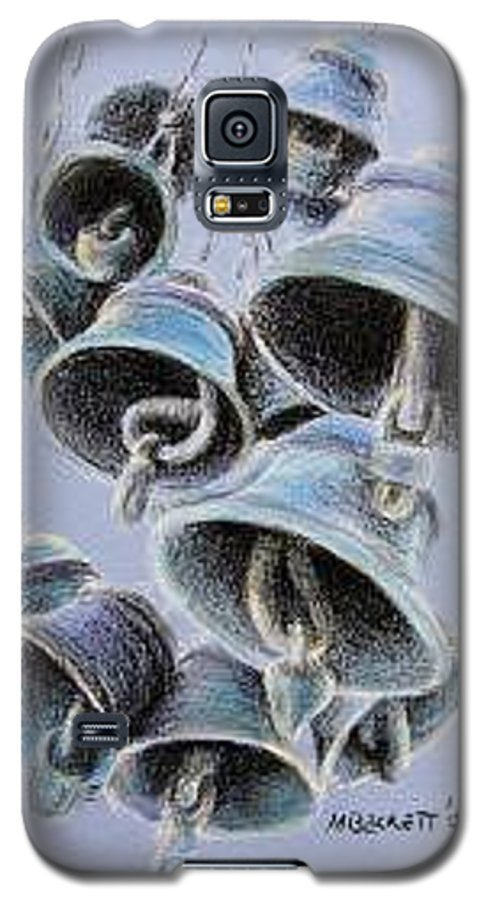 Bells Galaxy S5 Case featuring the drawing Solstice Bells by Michael Beckett