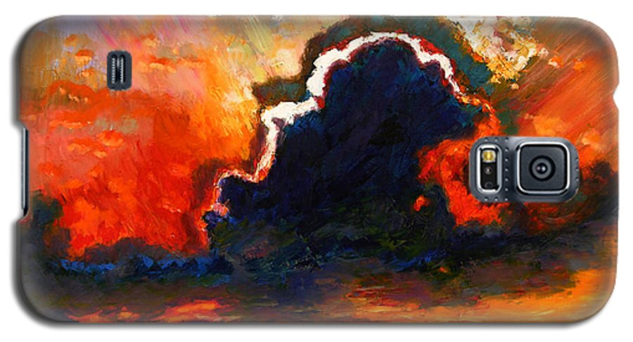 Landscape Galaxy S5 Case featuring the painting Some Glad Morning by John Lautermilch