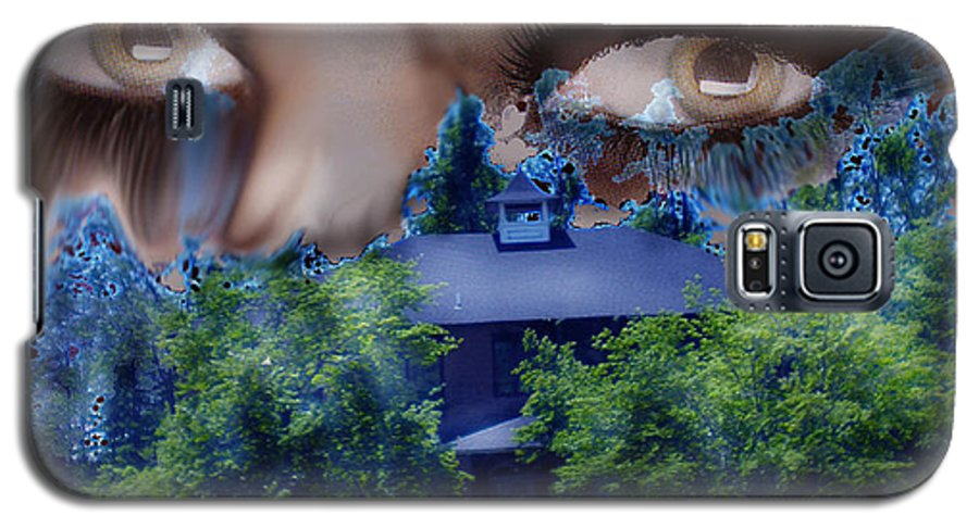 Strange House Galaxy S5 Case featuring the digital art Something To Watch Over Me by Seth Weaver