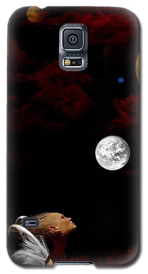 Moon Galaxy S5 Case featuring the digital art Sometimes I Wonder by Ruben Flanagan