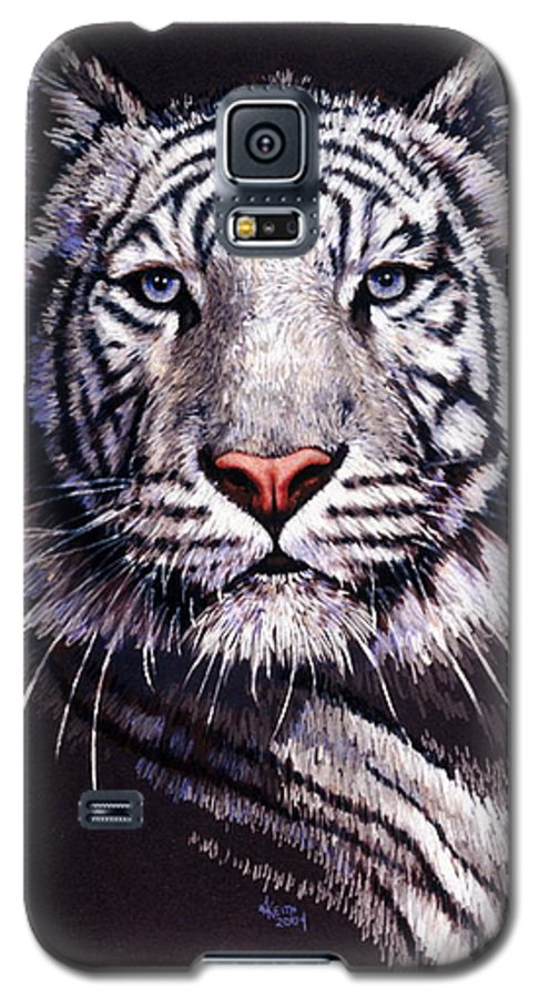 Tiger Galaxy S5 Case featuring the drawing Sorcerer by Barbara Keith