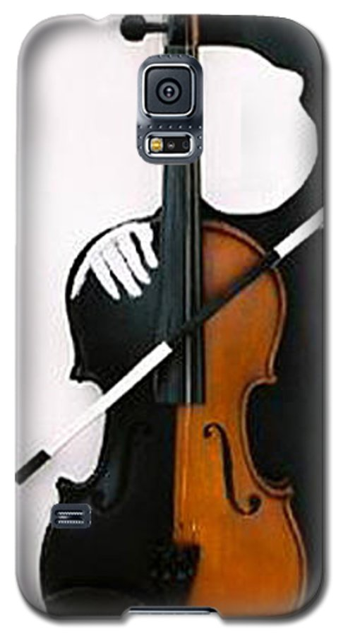 Violin Galaxy S5 Case featuring the sculpture Soul Of Music by Steve Karol
